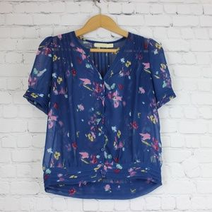 Anthropologie Pins and Needles floral top XS